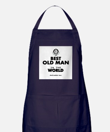 The Best in the World Old Man Apron (dark)