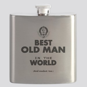The Best in the World Old Man Flask