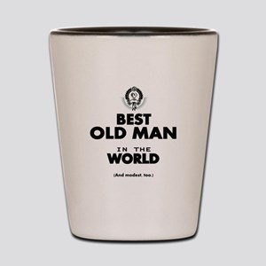 The Best in the World Old Man Shot Glass