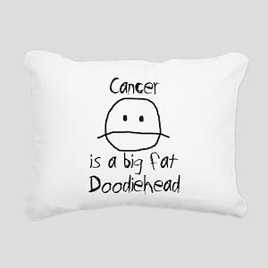Cancer is a Big Fat Doodiehead Rectangular Canvas