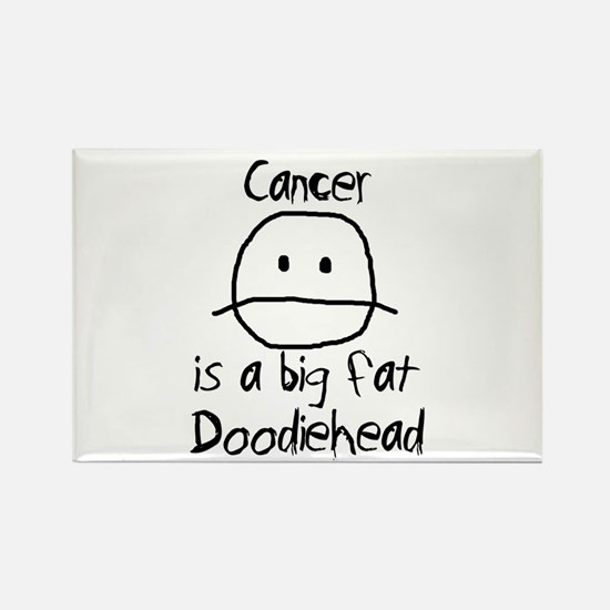 Cancer is a Big Fat Doodiehead Rectangle Magnet