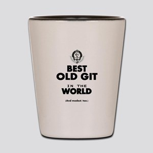 The Best in the World Old Git Shot Glass