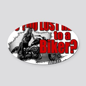 bikerlost Oval Car Magnet