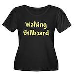 Walking Women's Plus Size Scoop Neck Dark T-Shirt