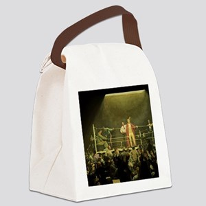 Vintage Sports Boxing Canvas Lunch Bag