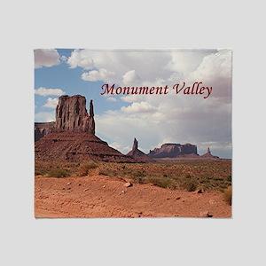 Monument Valley, Utah, USA 3 (captio Throw Blanket