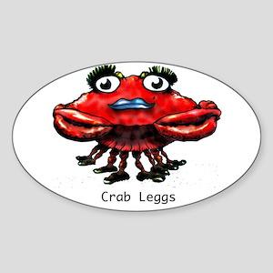 Crab Leggs Oval Sticker