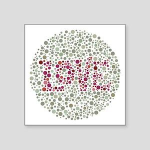 """Colorblind Love Square Sticker 3"""" x 3"""""""
