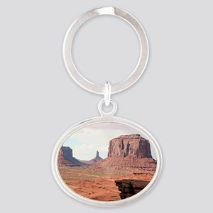 Monument Valley, John Ford's Point,  Oval Keychain