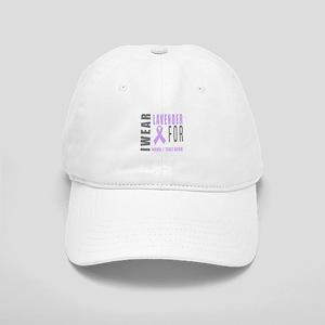Lavender awareness Ribbon Cap