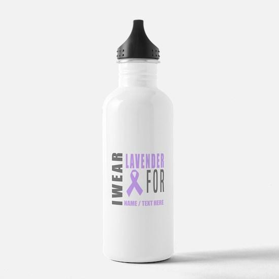 Lavender awareness Rib Water Bottle