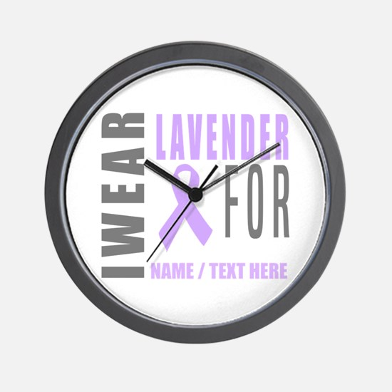 Lavender awareness Ribbon Wall Clock