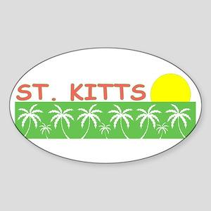 St. Kitts Oval Sticker