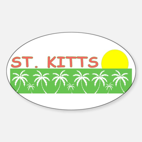 St. Kitts Oval Decal