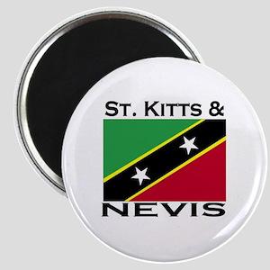 St. Kitts & Nevis Flag Magnet