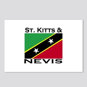 St. Kitts & Nevis Flag Postcards (Package of 8)