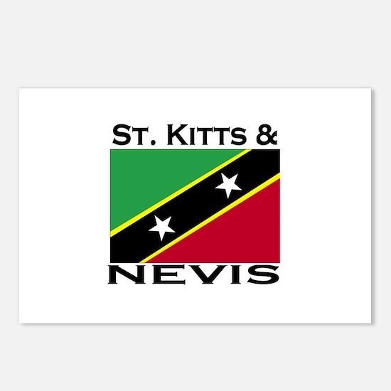 St. Kitts & Nevis Flag Postcards (Package of 8)
