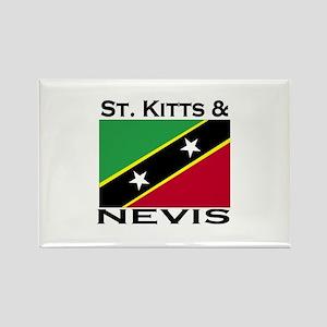 St. Kitts & Nevis Flag Rectangle Magnet