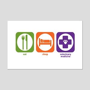 Eat Sleep Veterinary Medicine Mini Poster Print