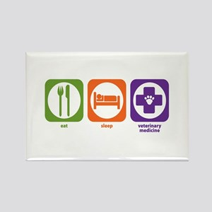 Eat Sleep Veterinary Medicine Rectangle Magnet