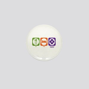 Eat Sleep Veterinary Medicine Mini Button