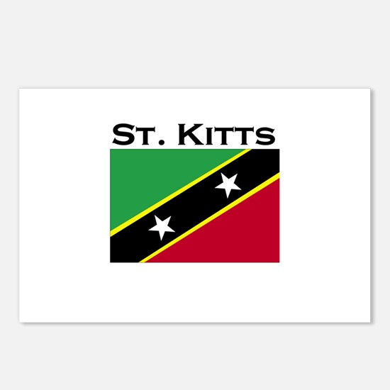 St. Kitts Flag Postcards (Package of 8)