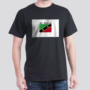 St. Kitts Flag Dark T-Shirt