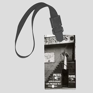 License Photo Studio Large Luggage Tag