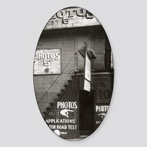 License Photo Studio Sticker (Oval)