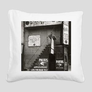 License Photo Studio Square Canvas Pillow