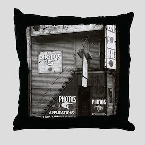 License Photo Studio Throw Pillow