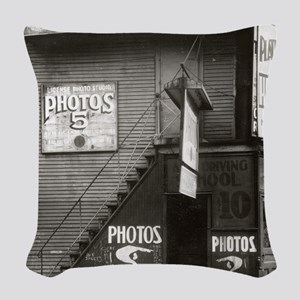 License Photo Studio Woven Throw Pillow
