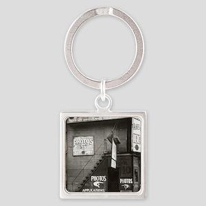 License Photo Studio Square Keychain