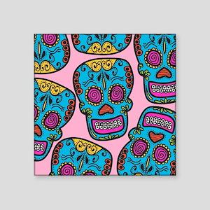"Devora Island Sugar Skull  Square Sticker 3"" x 3"""