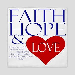 Faith Hope and Love Queen Duvet