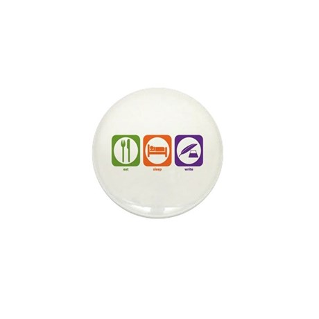 Eat Sleep Write Mini Button (10 pack)
