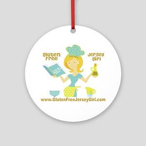 GF jersey Girl Round Ornament