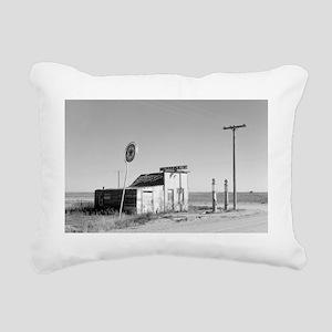 Abandoned Texaco Station Rectangular Canvas Pillow