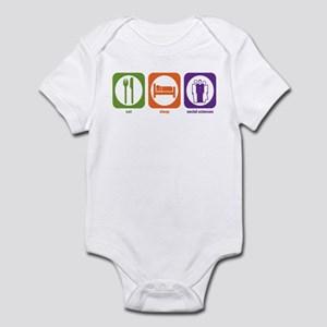 Eat Sleep Social Sciences Infant Bodysuit