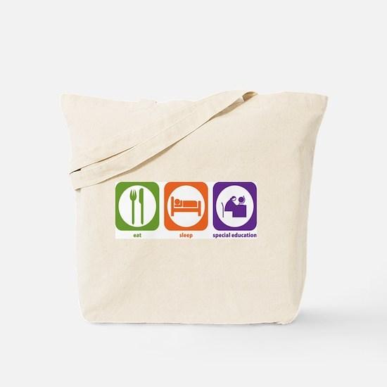 Eat Sleep Special Education Tote Bag