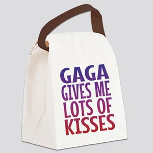 Gaga Gives Me Lots Of Kisses Canvas Lunch Bag