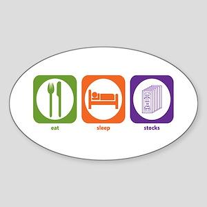 Eat Sleep Stocks Oval Sticker