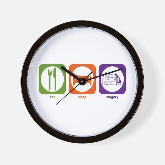Eat Sleep Surgery Wall Clock