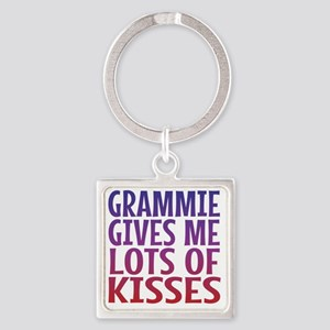 Grammie Gives Me Lots Of Kisses Square Keychain
