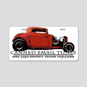 Canned Email Tunes Aluminum License Plate