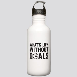 soccer - whats life without goals Water Bottle