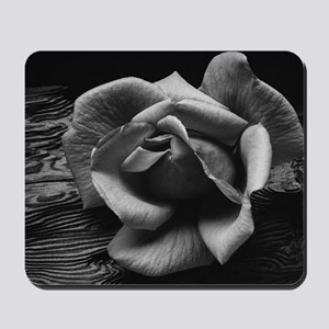 Ansel Adams Rose And Driftwood Mousepad