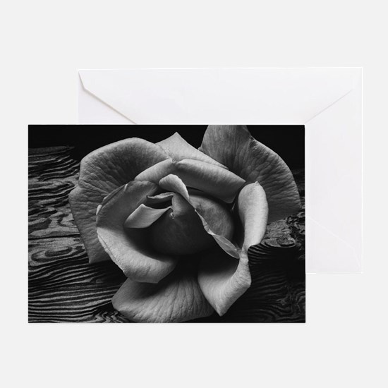 Ansel Adams Rose And Driftwood Greeting Card