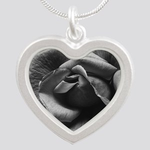Ansel Adams Rose And Driftwo Silver Heart Necklace