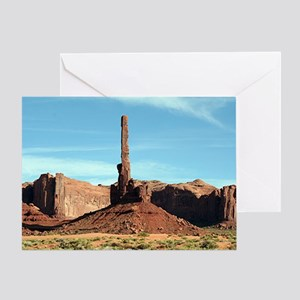 Monument Valley, Totem Pole, Utah, U Greeting Card